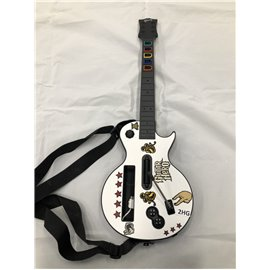 Wii Wireless Guitar Controller Guitar Hero White Gibson Les Paul