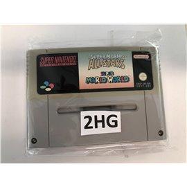 Super Mario All Stars & Super Mario World (verkleurd, losse cassette)