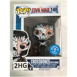 Funko Pop Marvel Civil War Captain America: 140 Crossbones (battle damage)