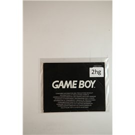 Game Boy Consumer Information and Precautions Booklet