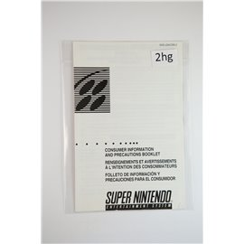 Snes Consumer Information and Precautions Booklet