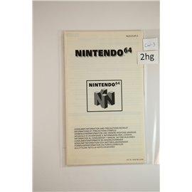 N64 Consumenten Informatie en Waarschuwingen