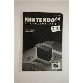 Nintendo 64 Expansion Pak Handleiding