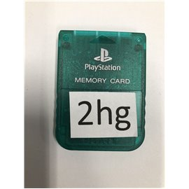 Playstation Memory Card Groen