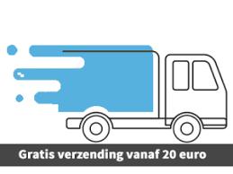 Gratis verzenden 20 euro NL en BE